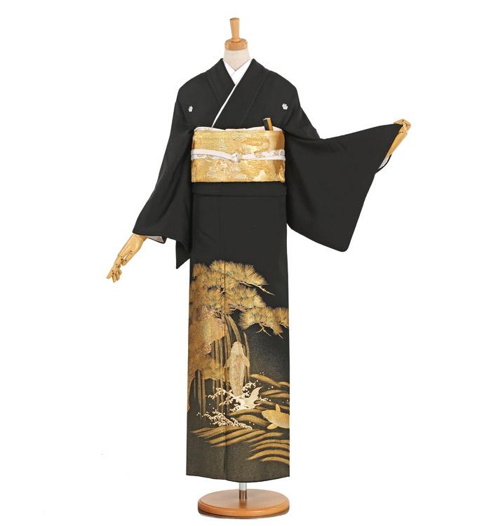金彩 黒留袖 No.CA-1050-M