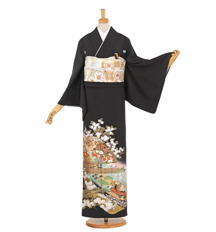 関芳 大きいサイズ 黒留袖 No.CA-1062-MO
