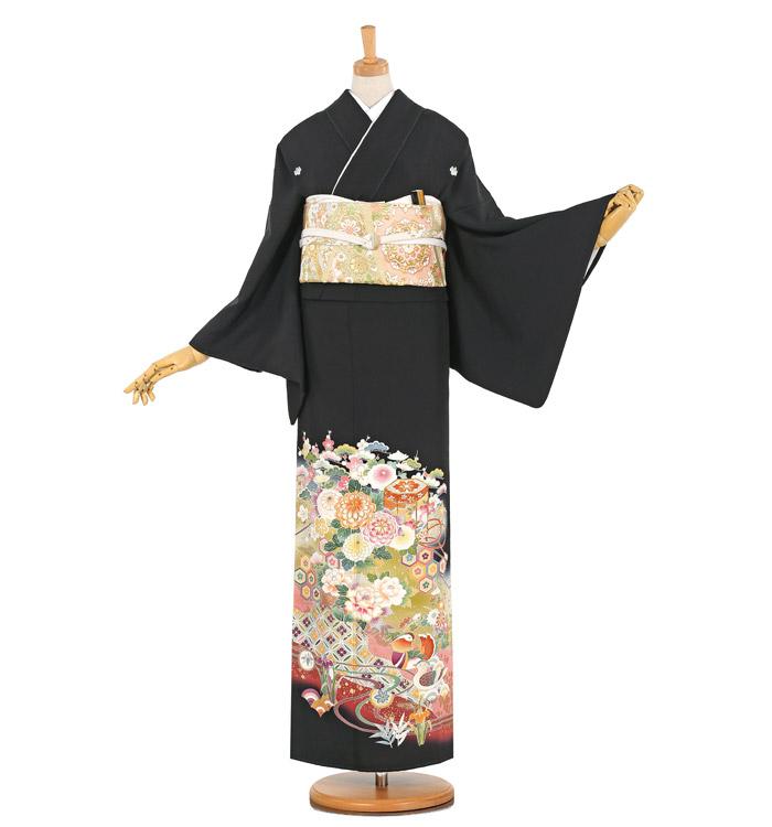 京友禅 大きいサイズ 黒留袖 No.CA-1086-MO