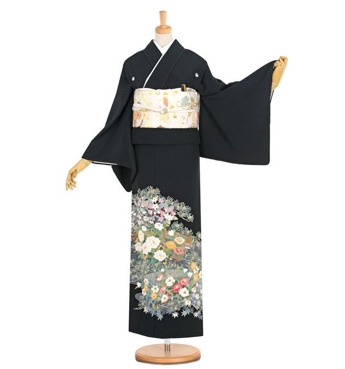 本加賀友禅 黒留袖 No.CA-1156-M