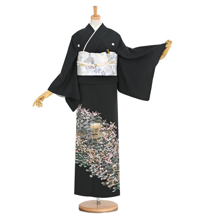 総刺繍 黒留袖 No.CA-1185-Sサイズ
