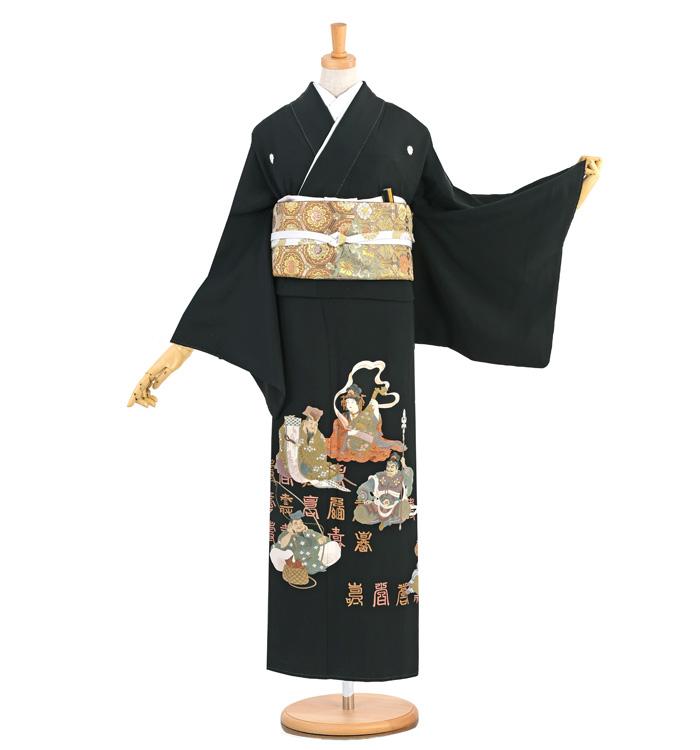 相良刺繍 黒留袖 No.CA-1313-M