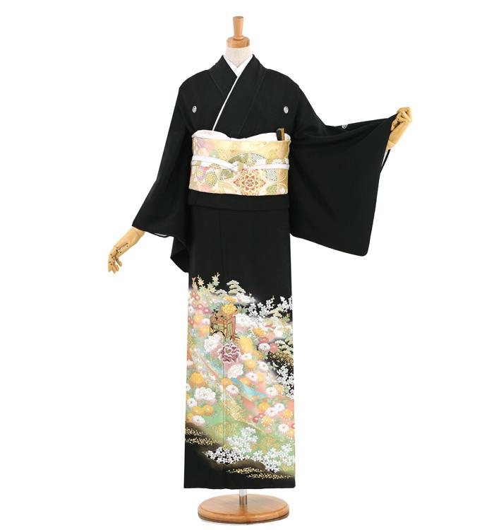 関芳 黒留袖 No.CA-1503-Mサイズ