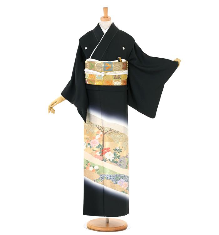 縫い取り 黒留袖 No.CA-1533-Mサイズ