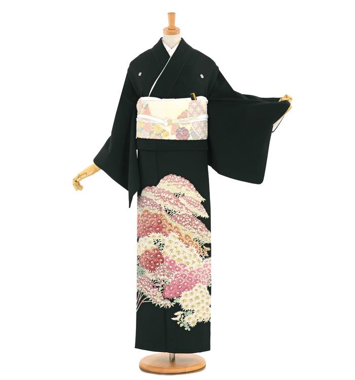 本加賀友禅 黒留袖 No.CA-1599-Lサイズ