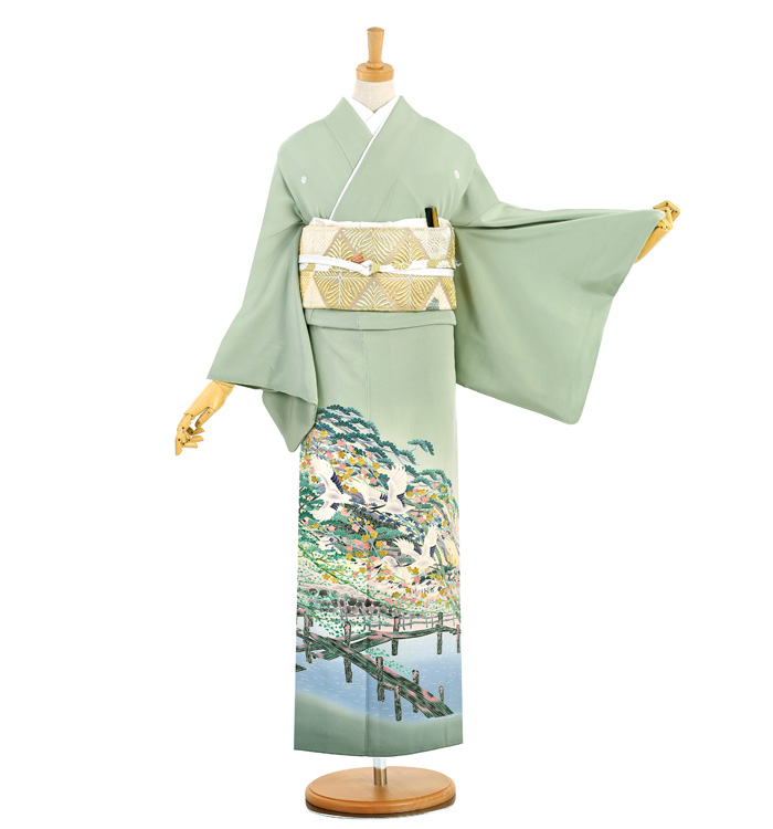 本加賀友禅 五つ紋色留袖 No.DA-0956-M