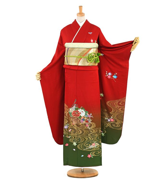 刺繍縫い取り 振袖 No.EA-1025-Mサイズ/○