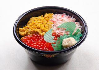 蒸うに3色丼(大・小)|北の弁当工房 かな(金歳堂)