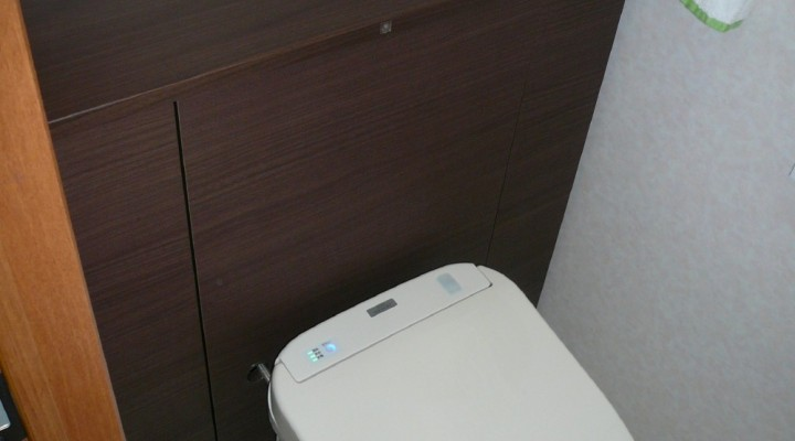 手洗い付カウンター式 一体形便器取り換え(千歳市Iさま) - 施工後   千歳日成暖房(株)