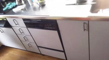 食器洗い機の取り換え(千歳市Tさま) - 施工前 | 千歳日成暖房(株)