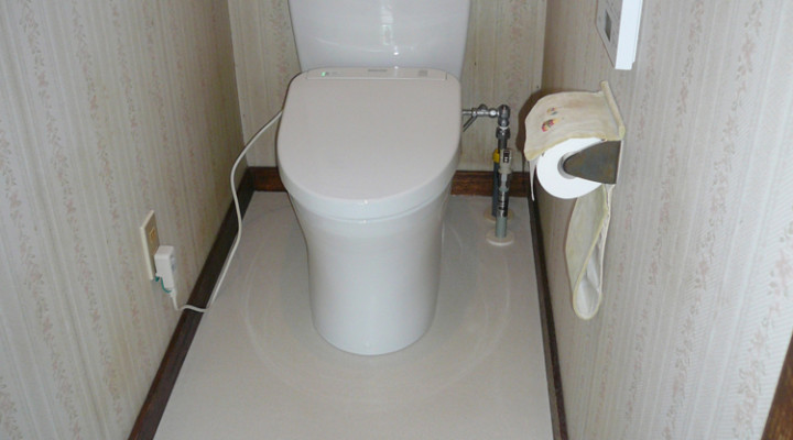 トイレのリフォーム(千歳市Yさま) - 施工後 | 千歳日成暖房(株)