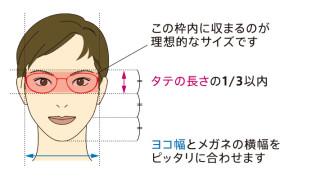 顔の形・お悩み別で解決!似合うメガネの選び方。