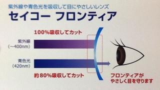 【紫外線対策レンズ】SEIKO フロンティア