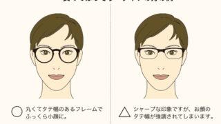お顔のタイプ別で選ぶメガネ