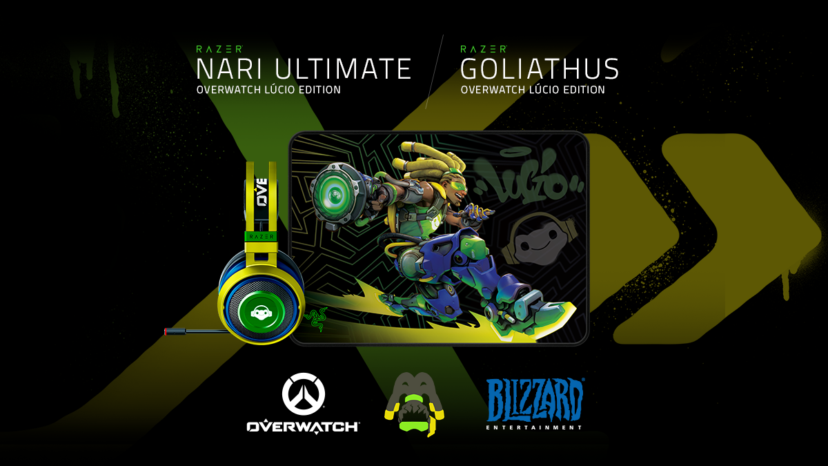 It appeared headset and mouse pad of Lucio model from Razer