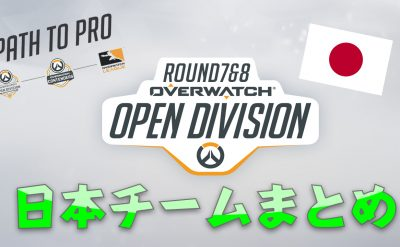 Open Dvision Day7 Day8 日本チーム対戦表一覧