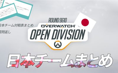 Open Dvision Day9 Day10 日本チーム対戦表一覧