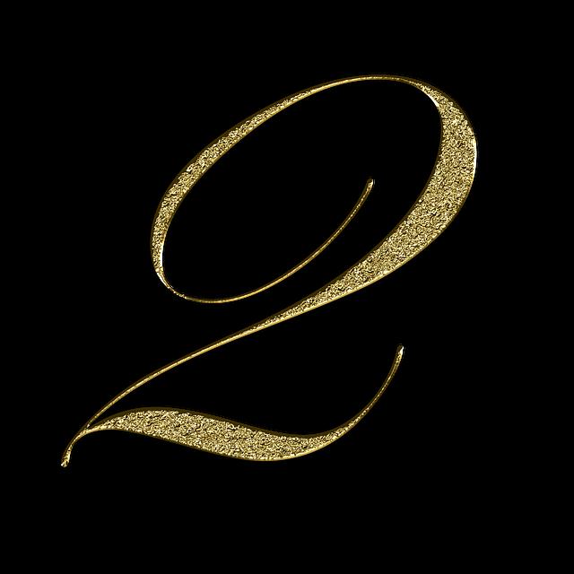 Number 2 Gold · Free image on Pixabay (32935)