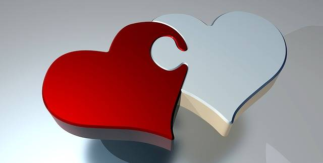 Puzzle Heart Love Two - Free image on Pixabay (134305)
