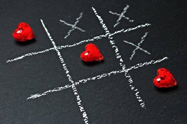 Tic Tac Toe Love Heart - Free photo on Pixabay (208727)