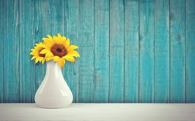 Sunflower Vase Vintage - Free photo on Pixabay (216368)