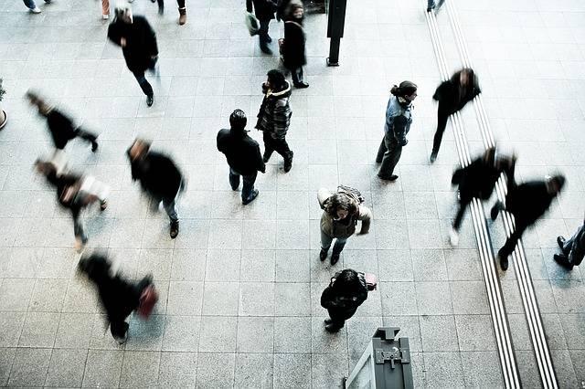 Pedestrians Rush Hour Blurred - Free photo on Pixabay (231502)