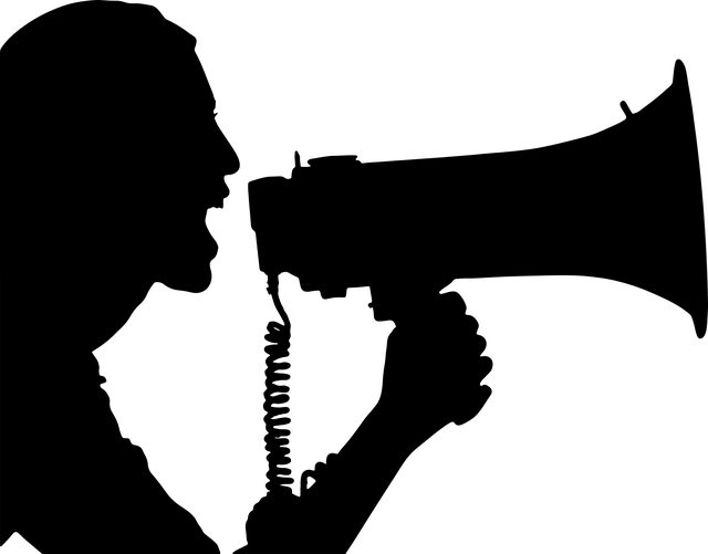 Bullhorn Communication Female - Free vector graphic on Pixabay (260054)