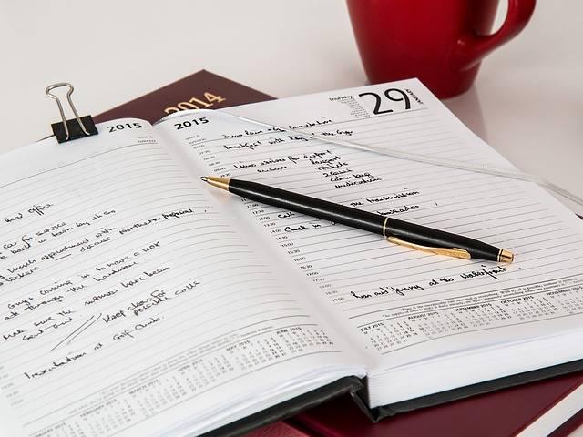 Diary Journal Pen - Free photo on Pixabay (281435)