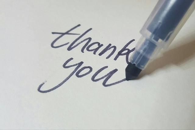 Calligraphy Pen Thanks - Free photo on Pixabay (281482)