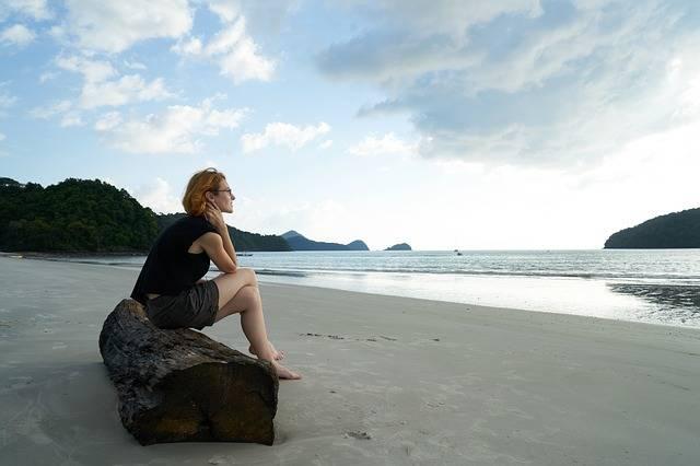 Loneliness Woman Beach - Free photo on Pixabay (282730)