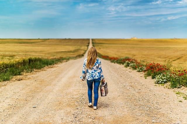 Suitcase Girl Leaving - Free photo on Pixabay (283292)