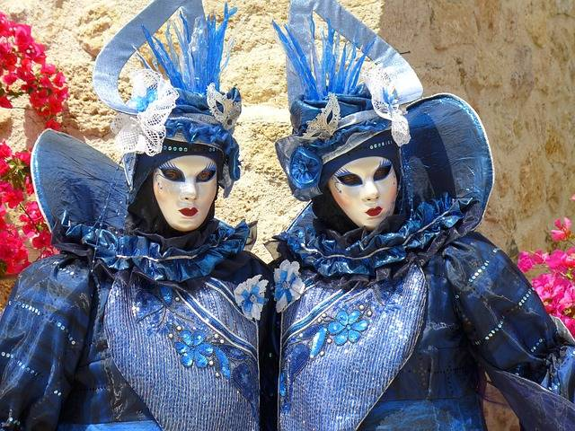 Masks Couple Blue Venice Mask Of - Free photo on Pixabay (284800)