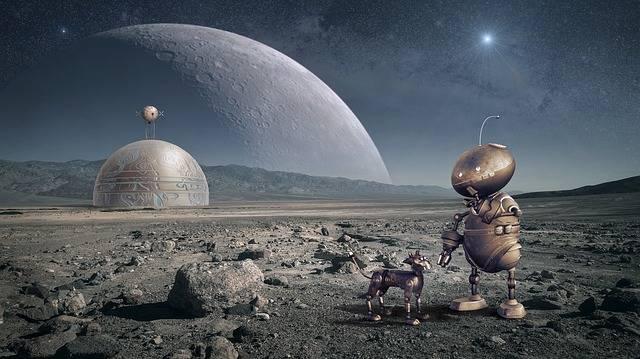 Robot Planet Moon - Free image on Pixabay (303817)