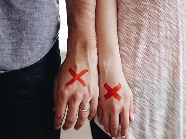 Hands Couple Red X - Free photo on Pixabay (314609)