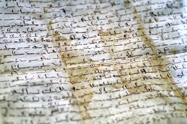 Document Parchment The Middle Ages - Free photo on Pixabay (321618)