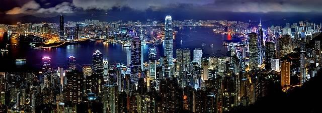 Hong Kong Skyline Night - Free photo on Pixabay (337014)