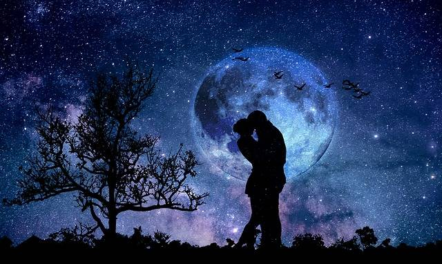 Moon Couple Blue - Free photo on Pixabay (343047)