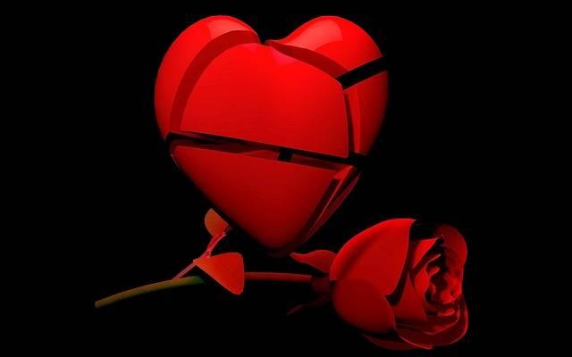 Heart Rose Broken - Free image on Pixabay (357891)