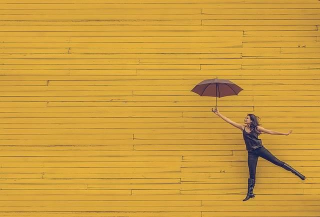Woman Umbrella Floating - Free photo on Pixabay (366844)