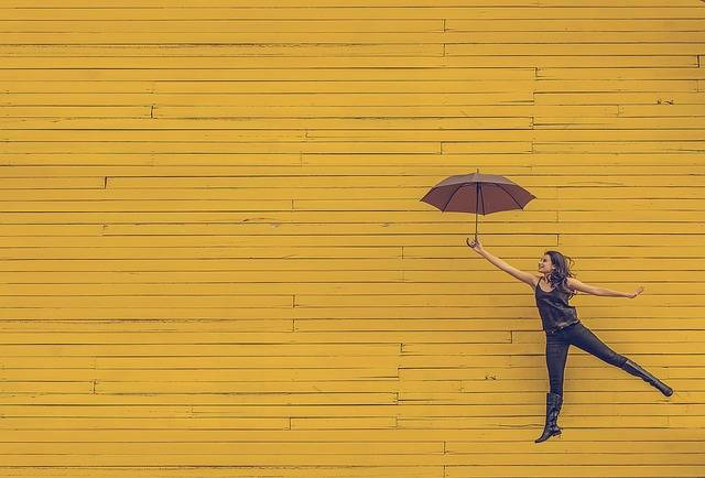 Woman Umbrella Floating - Free photo on Pixabay (370209)