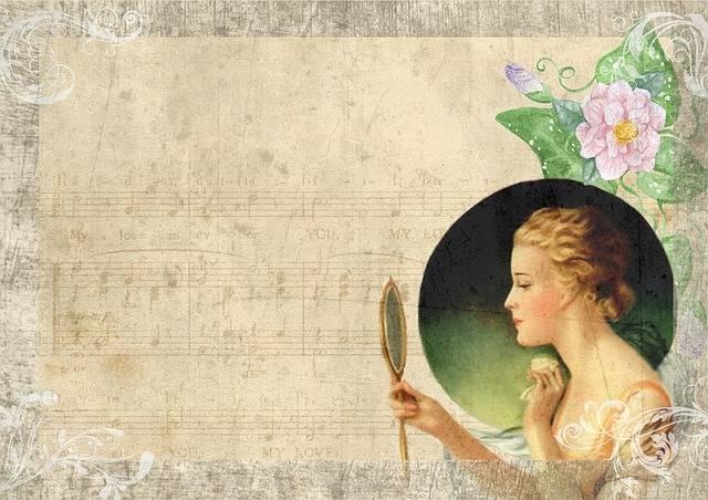 Vintage Lady Mirror - Free image on Pixabay (391569)