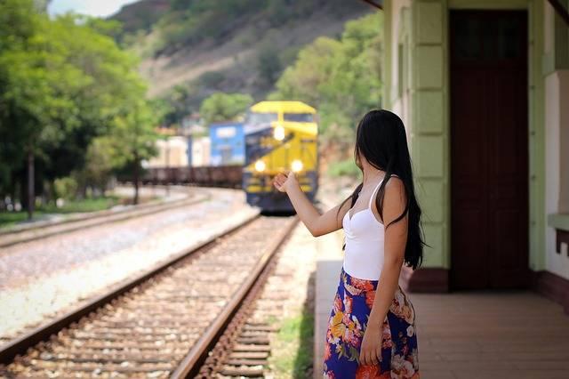 Trip Woman Train - Free photo on Pixabay (404985)