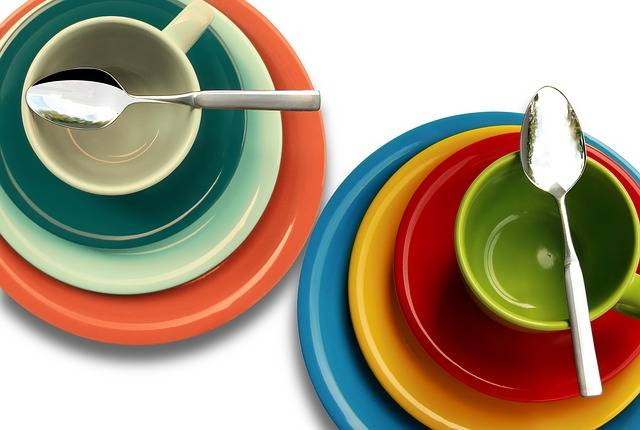Plate Cup Colorful - Free photo on Pixabay (534877)