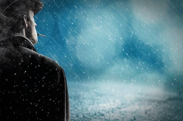 Man Rain Snow - Free photo on Pixabay (585480)