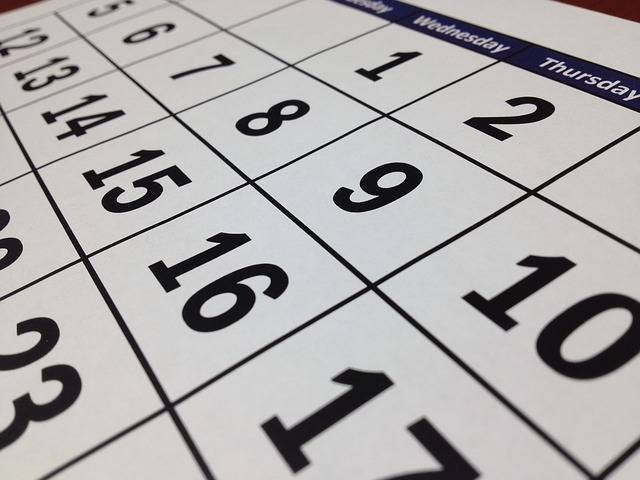 Calendar Date Time - Free photo on Pixabay (596249)
