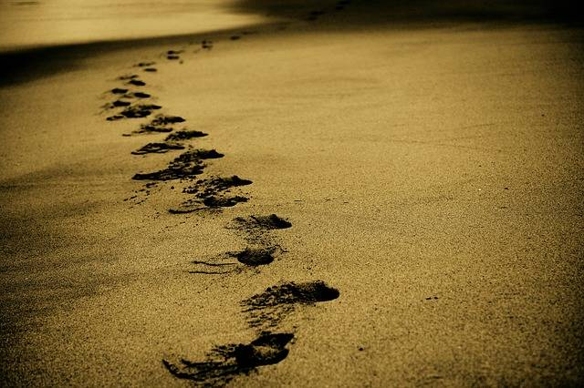 Sand Footsteps Footprints - Free photo on Pixabay (721931)
