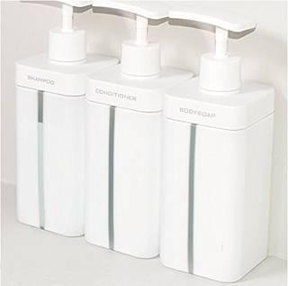 Amazon RETTO ディスペンサーL 3個セット ソープ・シャンプー用ディスペンサー - ホーム&キッチン オンライン通販 (741535)