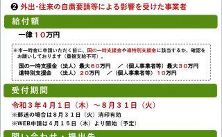 札幌市「経営持続化支援一時金」の概要(札幌市)