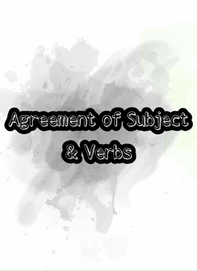 Agreemet of Subject&Verbs ปก
