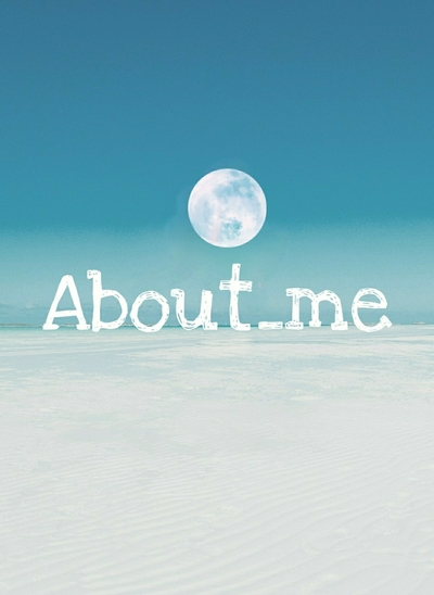 About me( ˙˘˙ )💬 表紙